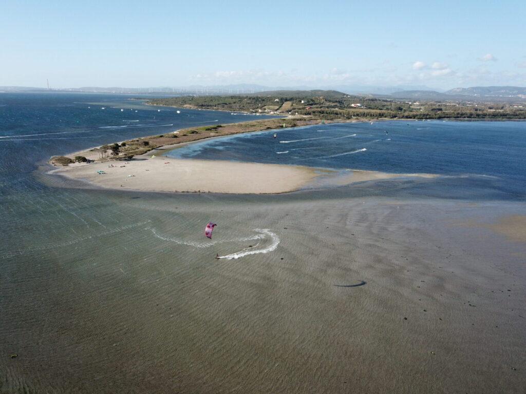 Punta Trettu Kite Beach in Sardegna