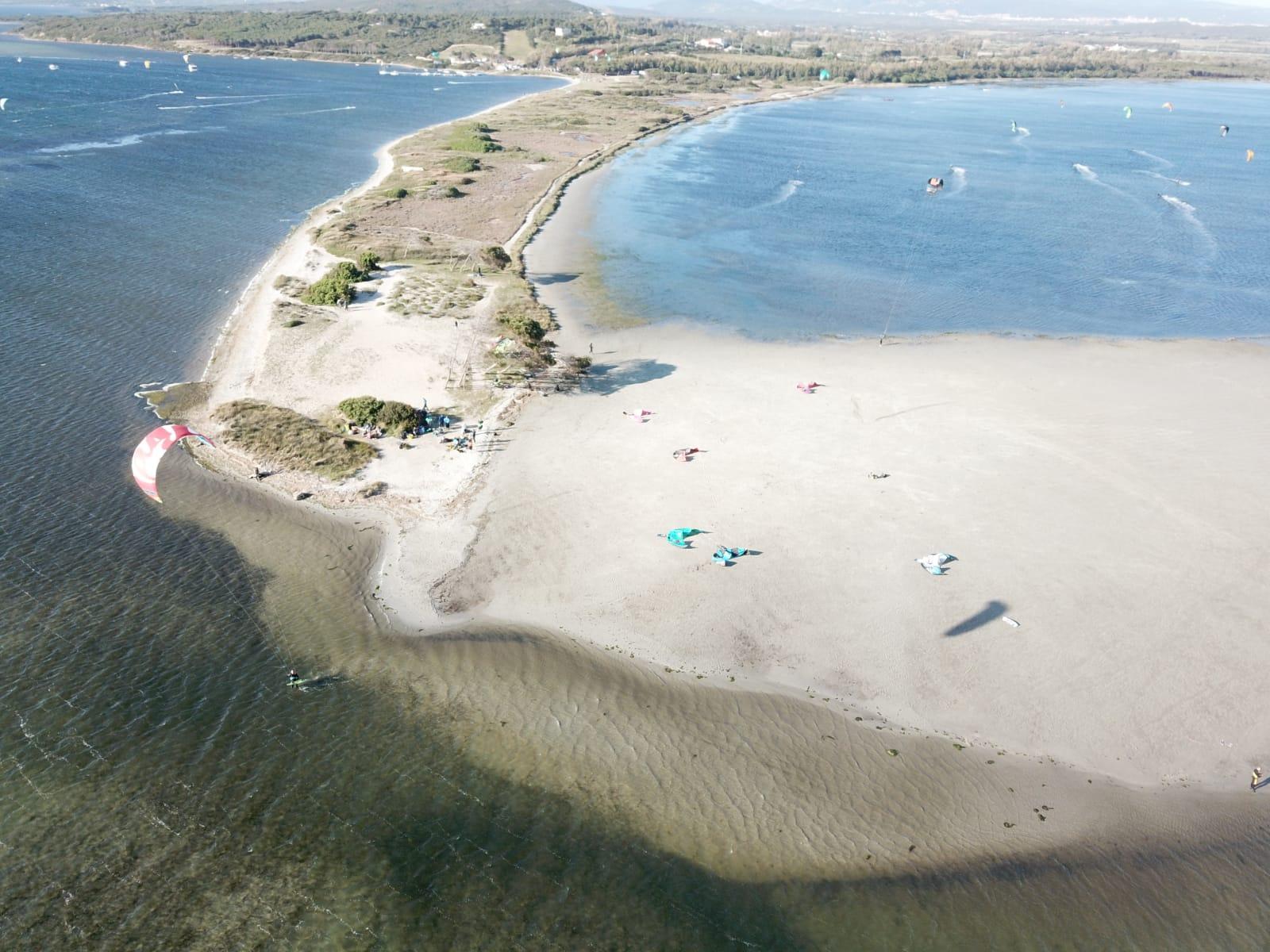 Punta Trettu Kite Beach in Sardinia, perfect with Shallow Water and Flat Water