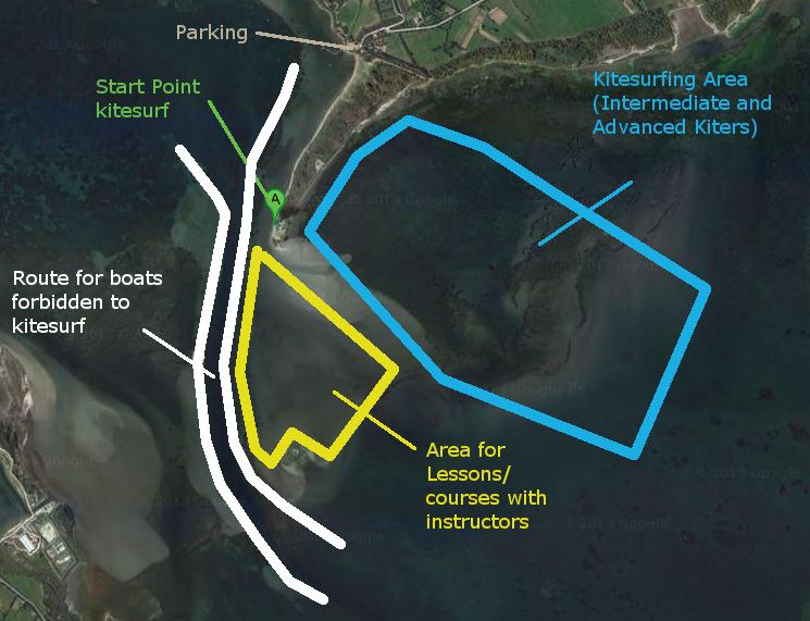 Kite Zones in Punta Trettu Sardinia