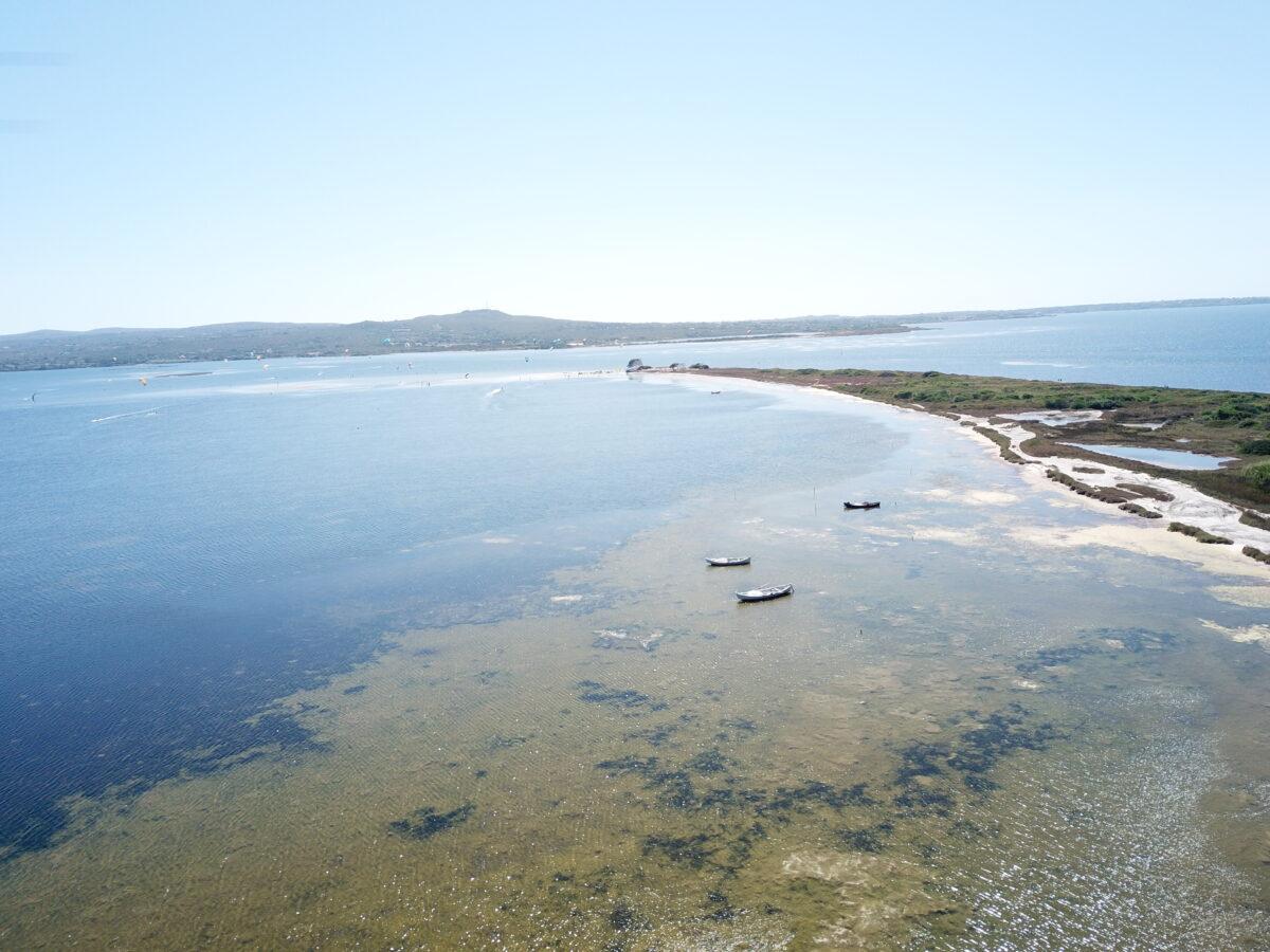 Punta Trettu Kite Beach in the South of Sardinia